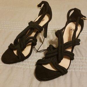Rope detail black heels from H&M